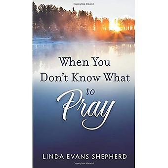 När du inte vet vad att be