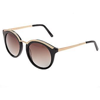 Bertha Caroline polarizada óculos de sol - preto/preto