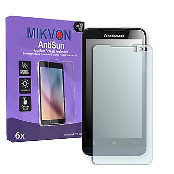 Lenovo Ideaphone P770 Screen Protector - Mikvon AntiSun (Retail Package with accessories)