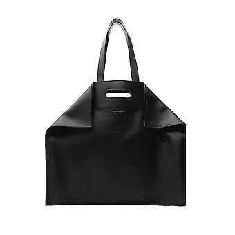 Alexander Mcqueen Black Leather Tote
