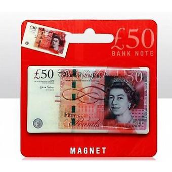 Epoxy koelkast magneet 50 vijftig pond nota Souvenir Collectable magneten 8 X 4.5cm