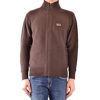 Napapijri Brown Wool Sweater