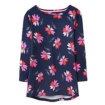 Joules Harbour Print Printed Jersey Top Navy Floral