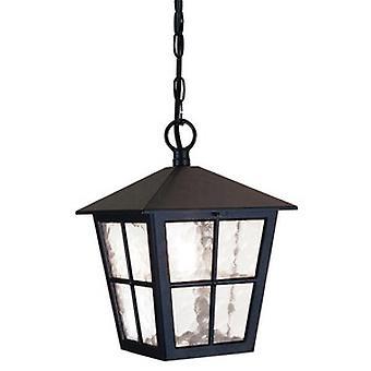 Outdoor British Style Black Porch Chain Lantern IP20 Rated
