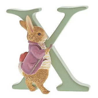 Beatrix Potter Alphabet Letter X Old Mr. Benjamin Bunny Figurine