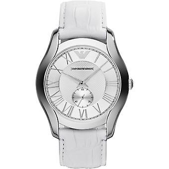Orologio da uomo con cinturino in pelle bianca Emporio Armani Ar1751