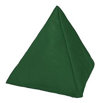 Verde algodón triangular malabarismo bolsa de frijoles para jugar al aire libre