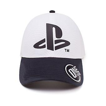 Sony Playstation Logo Curved Bill Baseball Cap White One Size (TC387805SNY)