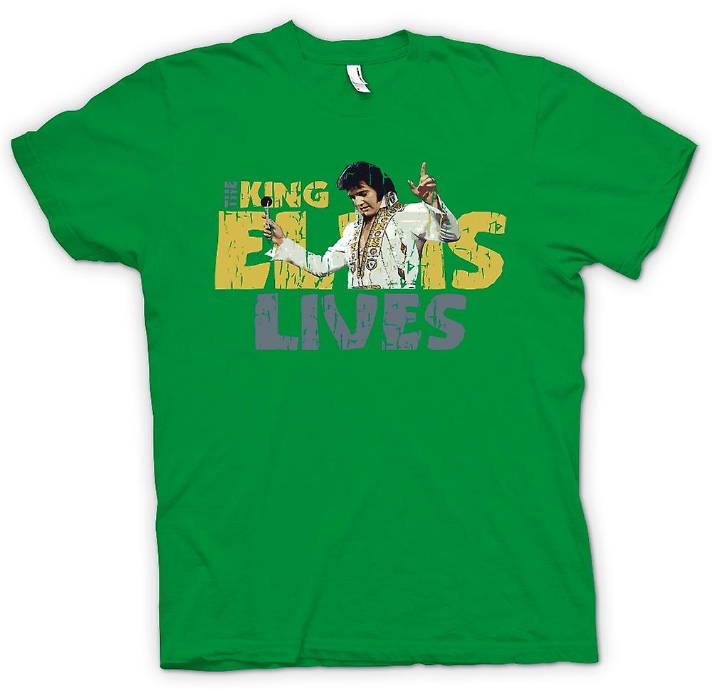 Mens T-shirt - The King - Elvis Lives