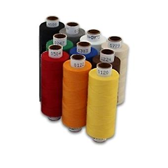 10 Pieces Tailor Multicolor Cotton Stitching Sewing Thread Spools| Quality Threads 10 X 500m 100% Polyester