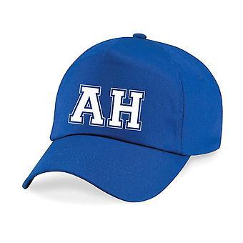 Kids Personalised College Initials Name Baseball Cap