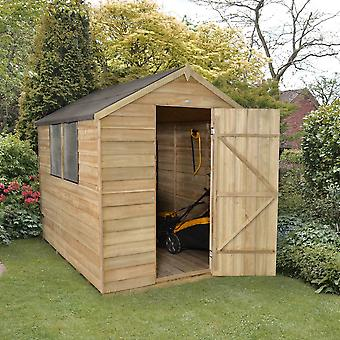 Forest Garden 6 x 8 Pressure Treated Overlap Apex Garden Shed With Window