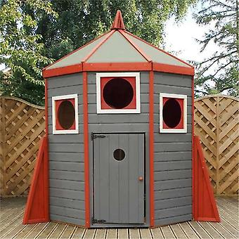 Mercia Wooden Rocket Playhouse 6x6ft Childrens Garden Building Wendy House