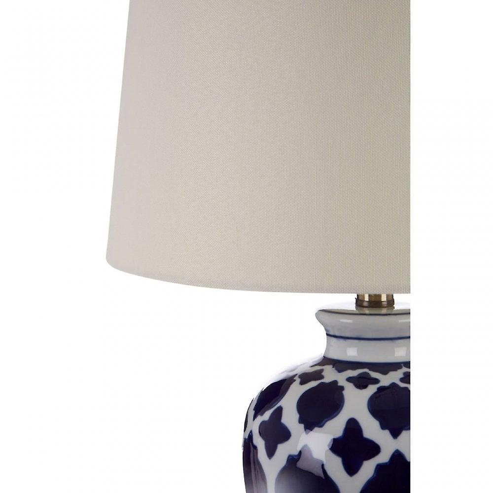 Premier Home Paloma Table Lamp, Ceramic, Linen, Blue