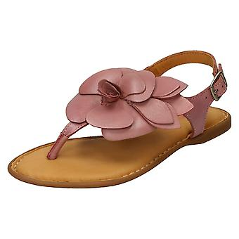 Ladies Leather Collection Toepost Sandals F00207