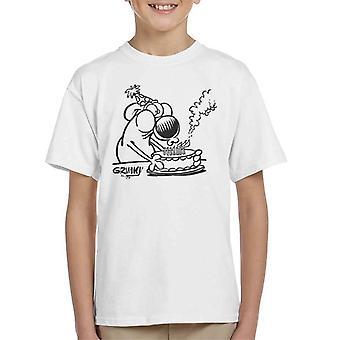 Grimmy syntymä päivä kakku lasten T-paita