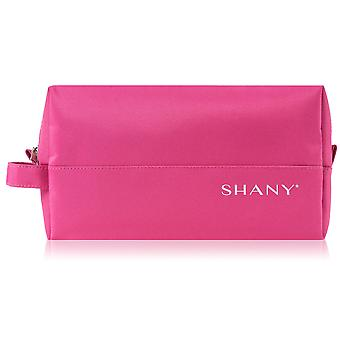 SHANY Nylon Zippered Toiletry and Makeup Bag – Water-resistant, Scratch-proof, and Lightweight Cosmetics Organizer with Handle – PINK