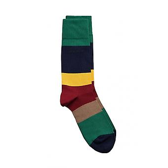 Gant D1. Colour Block Socks Mahogny Red