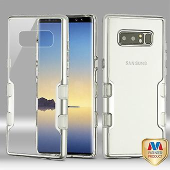 MYBAT Metallic Silver/Transparent Clear TUFF Panoview Hybrid Protector Cover  for Galaxy Note 8