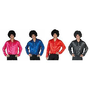 70s Disco 70ies DancerMen's Costume Hit Star Basic Shirt Men's Costume