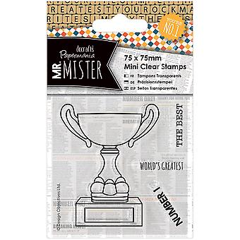Papermania Mr. Mister Mini Clear Stamps 75x75mm-Trophy PM907232