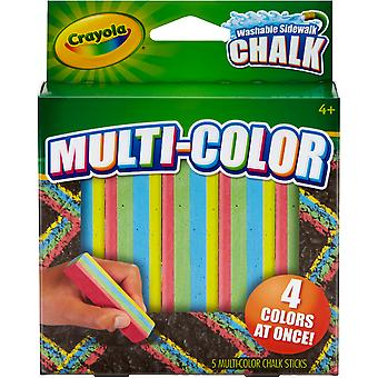 Crayola Multi-Color Washable Sidewalk Chalk-5/Pkg 03-5805