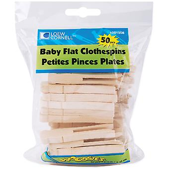 Woodsies Baby Flat Clothespins 2.5