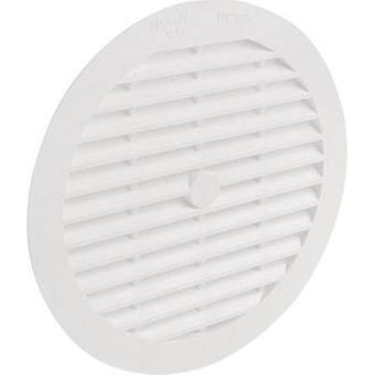 Vent grille PVC Suitable for pipe diameter: 12.5 cm Wallair N32921