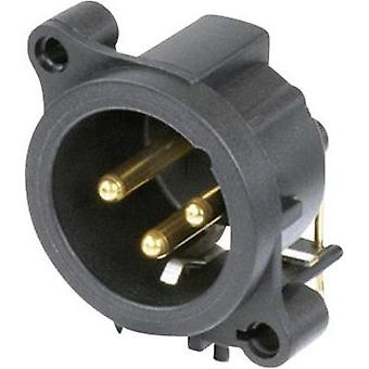 XLR connector Sleeve plug, right angle pins Number of pins: 3 Black Neutrik NC3MAAH-CON 1 pc(s)