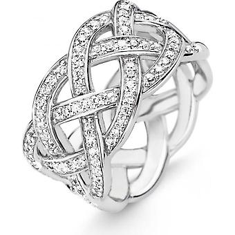 Ring Ti Sento jewelry 12026ZI - ring silver crystals woman