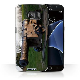 STUFF4 Case/Cover for Samsung Galaxy S7/G930/Old Cannon/British Coast