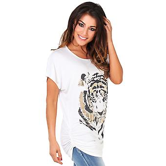 KRISP Womens ˜Tiger Foil Print Top˜