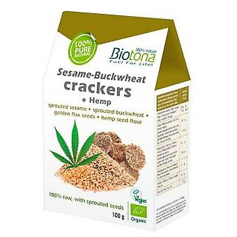 Biotona Sesamo-Buckwheat Crackers 100g Bio (Diet , Crackers)