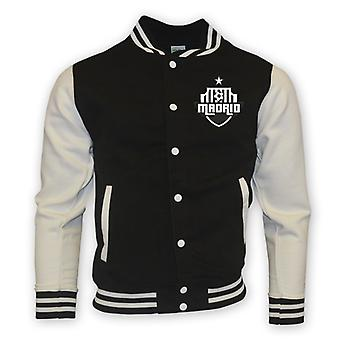 Real Madrid College Baseball Jacket (black)
