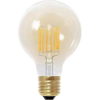 LED (monochrome) Segula 230 V E27 6 W = 30 W Gold EEC: A Globe (Ø x L) 80 mm x 120 mm dimmable, Filament 1 pc(s)
