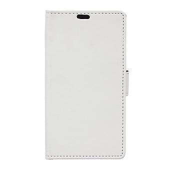 Type PU leather wallet cover for Kiritkumar Selfy 4 g (white)