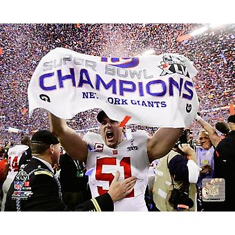 Zak DeOssie Super Bowl XLVI Celebration Photo Print
