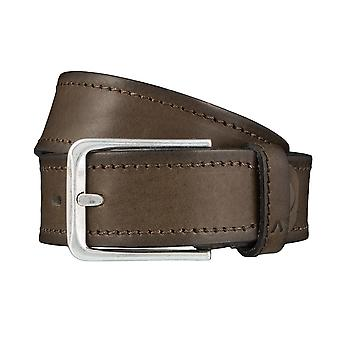 ALBERTO stitch mens belt belts leather belt green 3885