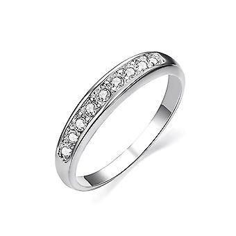 White Gold Plated Eternity Wedding Ring
