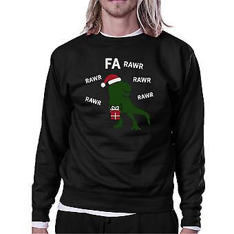 Fa Rawr Rawr Rawr T-rex Christmas Pullover Fleece Humorous Gifts