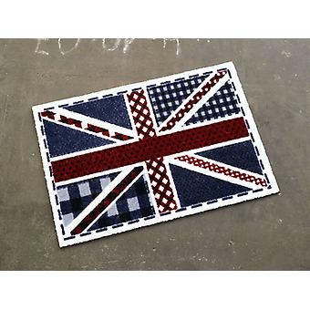Doormat dirt trapping pad Union Jack checkered blue red white 50 x 70 cm. 101926