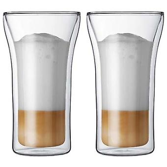 BODUM Assam 2 PC doble pared de vidrio grande