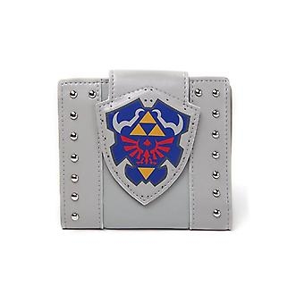 Nintendo Legend of Zelda Hylian Shield Bi-Fold Wallet Coin Pouch - Grey