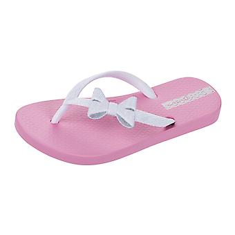 Ipanema Sparkle Bow II Girls Flip Flops / Sandals - Pink and White