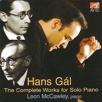 H. Gal - Hans G L: The Complete Works for Solo Piano [CD] USA import
