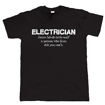Elektricien, Mens grappig T-Shirt