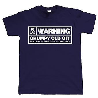 Waarschuwing, knorrige oude Git, Mens grappig T Shirt