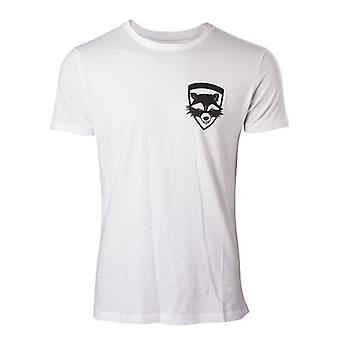 Vogtere af Galaxy Vol 2 raket ekstra T-Shirt L størrelse - hvid