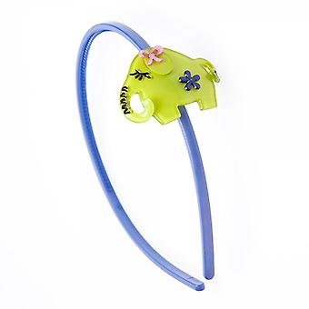 Camille Womens Ladies Acrylic Lime Green Elephant Alice Band Head Band Hair Accessory