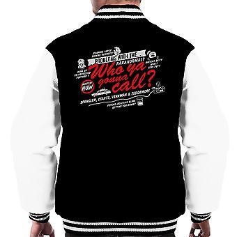 Bedre kalde drengene i grå Ghostbusters mænds Varsity jakke